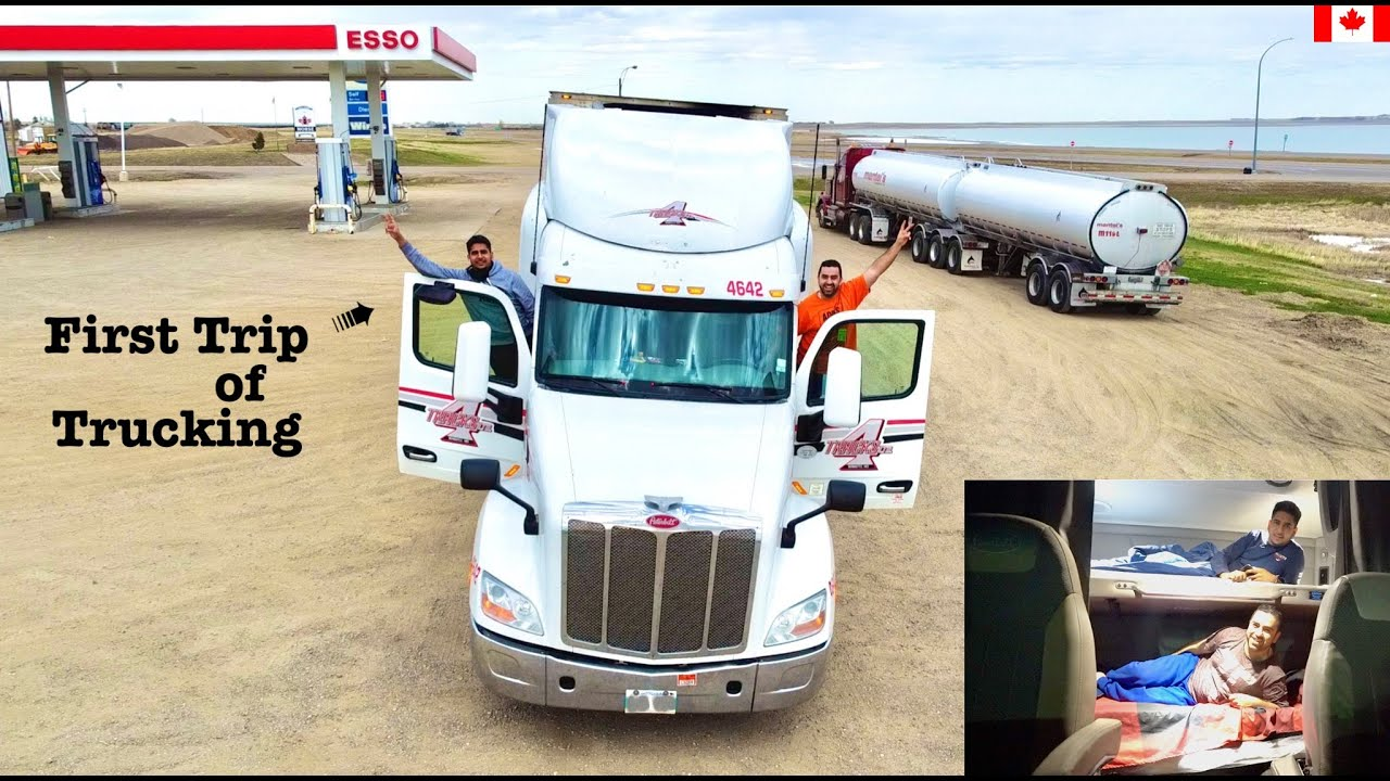 How i Did TEAM TRUCKING in CANADA With INDIAN STUDENT |