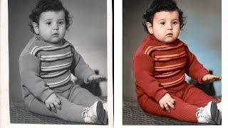 Колоризация черно-белой фотографии с помощью Adobe Photoshop CC 2014