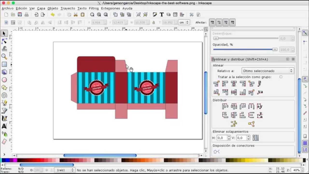 INKSCAPE 21 - Como hacer una plantilla para caja personalizada con ...
