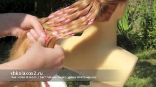 Плетенка с лентой school hairstyle for everyday