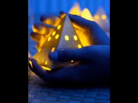 Làm lồng đèn giấy hình tam giác lung linh