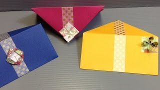 How To Make Beautiful Origami Flower Envelopes