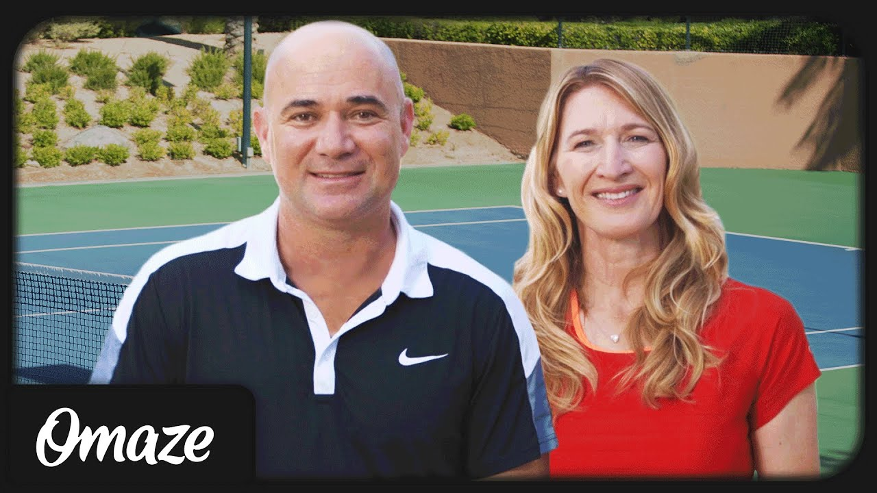 Andre Agassi and Steffi Graf Play Doubles with YOU Omaze