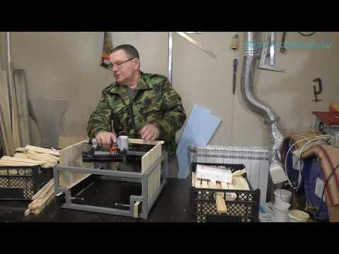 Принцип работы кондуктора сколачивания ульевых рамок