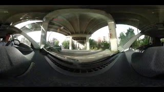 Driving in Vancouver with Samsung Gear 360 in 4k - Driving car2go and Evo Car share