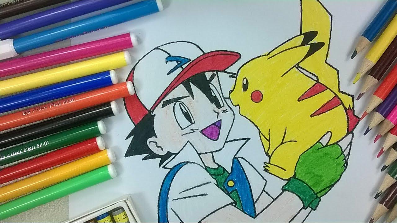 Enfants De Couleur 16 Pikachu Coloration 2 La Chaîne Pour Enfants