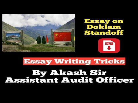 Doklam Standoff--Essay Writing--SSC--Bank--IB ACIO--Defence--Others--In Hindi - 동영상