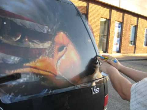 How To Apply Backscapes Rear Window Graphics By DecalDriveway - Rear window decals for vehicles