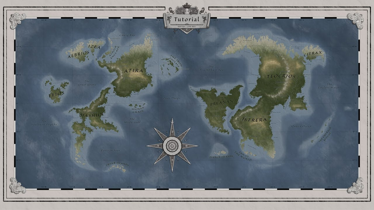 Timelapse Fantasy World Map For D D In Photoshop Youtube