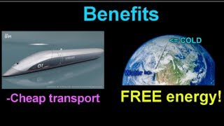 Free energy device using Hyperloop technology!