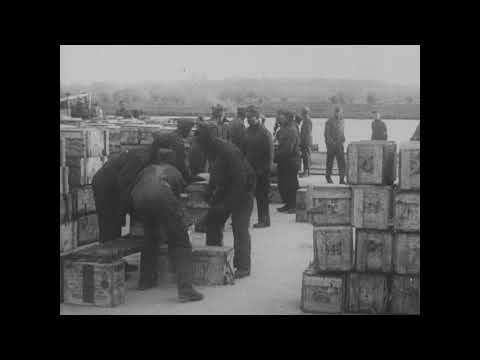 Base Section No. 1 (St. Nazaire), Unloading Supplies [1917-1919]