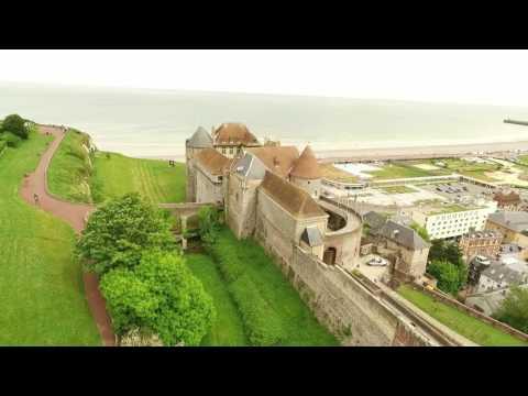 Dieppe, Seine-Maritime vue du drone, un teaser LFVDD