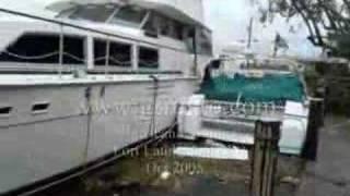 Yachts crashing hurricane Wilma Part 8 of 8