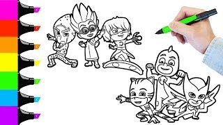 Pj Masks Coloring book Pages and Friends I Fun Colouring videos for Kids