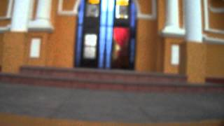"Entrada a la Iglesia Catolica ""San Miguel Arcangel"" de Taxisco, Santa Rosa."