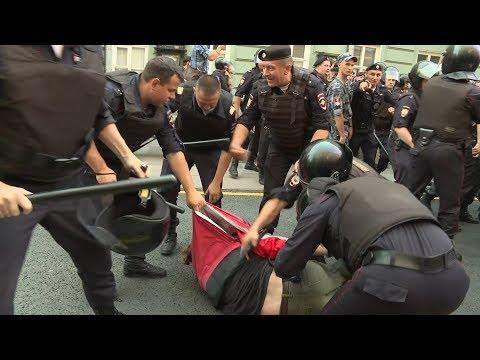Митинги и задержания: