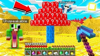 Minecraft But EVERYTHING You TOUCH Becomes a LUCKY BLOCK! With UnspeakableGaming and 09SharkBoy
