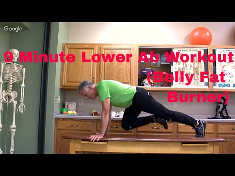 9 Minute Lower Ab Workout (Belly Fat Burner) Beginner to Advanced