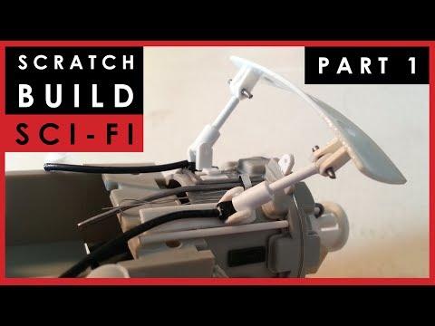 Scale model science fiction ship scratch build -  Part 1