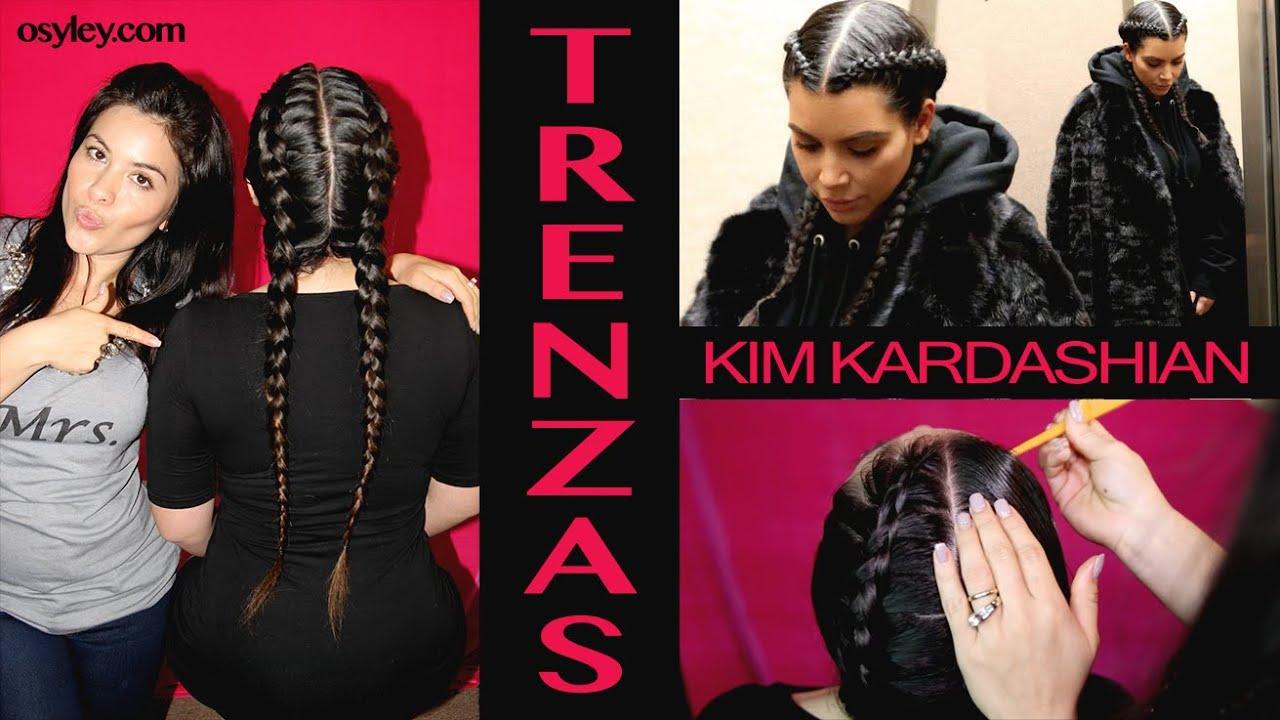 Trenzas Estilo Kim Kardashian ♡ Trenzate Para No Maltratarte el Cabello ♡  OSYLEY , YouTube