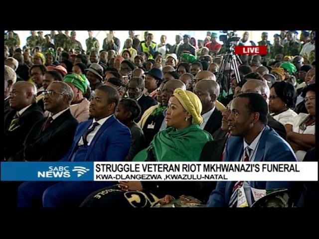 Former South African president Jacob Zuma speech at the funeral of late struggle veteran Riot Mkhwanazi.