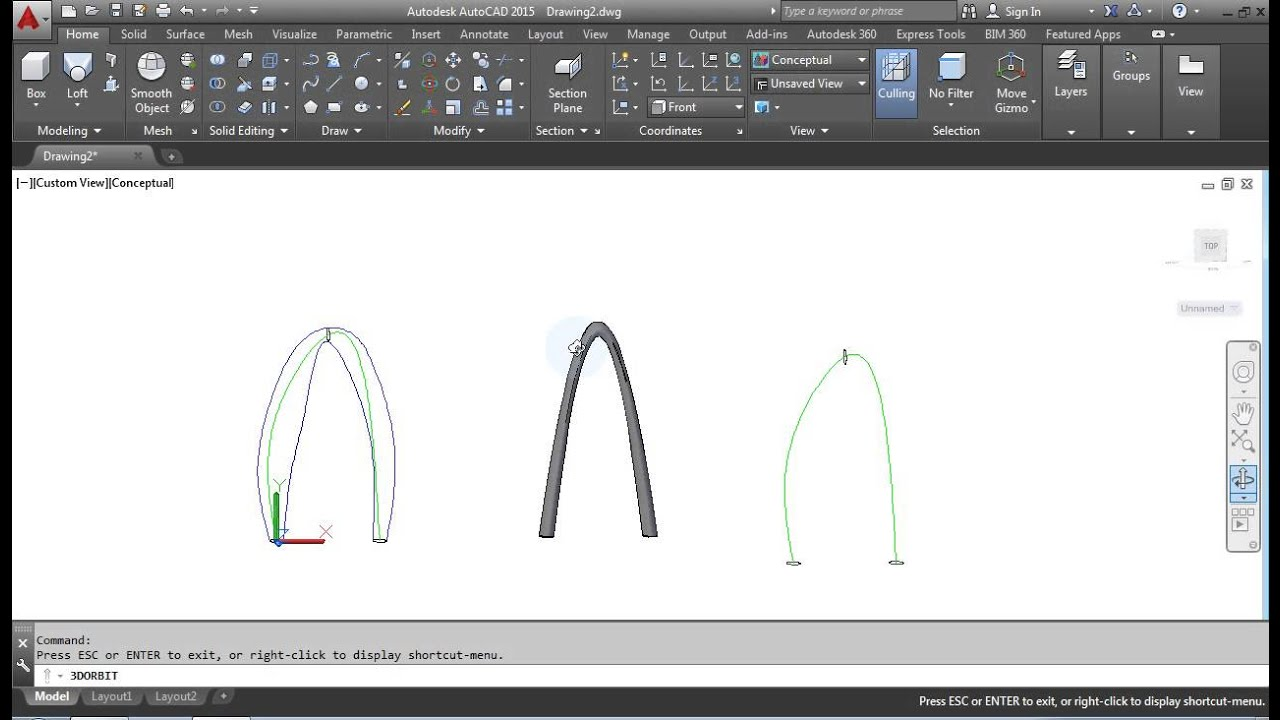 autocad seven day tutorial how to use 3d loft command youtube