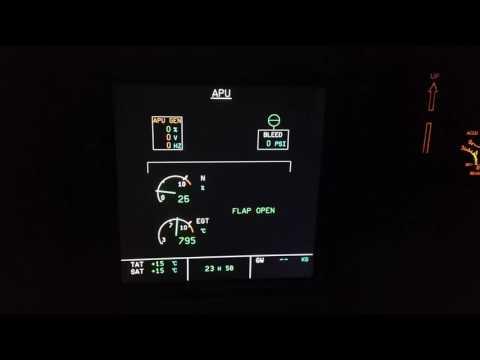 A320 APU ECAM Starting APU