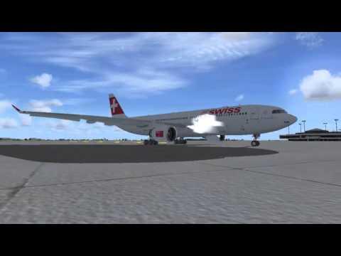 [FSX] *Full Flight - SWISS Airlines A330 Frankfurt/Main Int'l - Zürich/Kloten Int'l