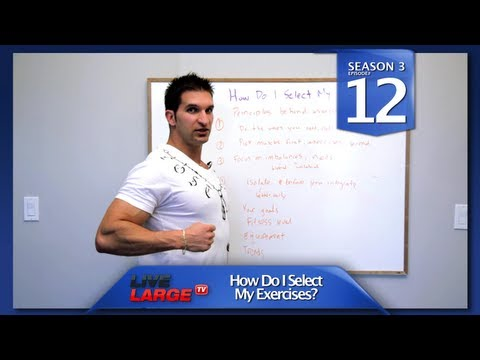 "How Do I Select The ""Best Exercises"" To Build Muscle? - LiveLargeTV.com (Season #3 Ep,12)"