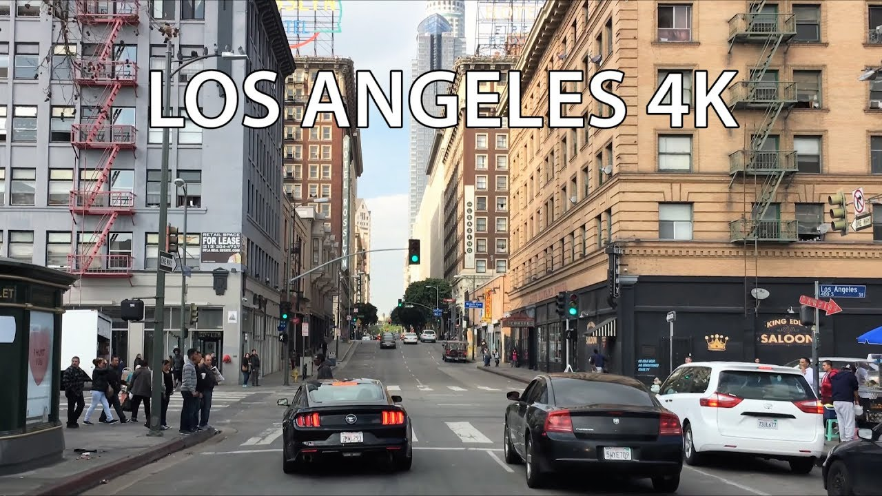 Driving downtown la 39 s city center 4k los angeles usa for Is la a city