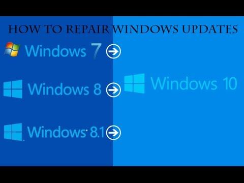 Repair windows updates on 7/8/8.1/10