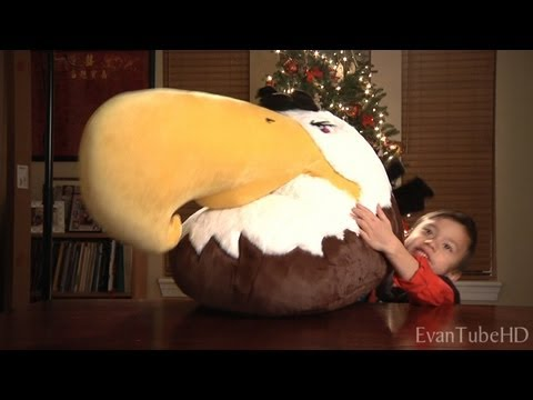 Angry Birds Christmas Gifts - Mighty Eagle Plush! Angry Birds Haul! What I Got For Christmas!