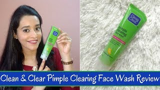 Clean & Clear Pimple Clearing Face Wash Review | Just another girl