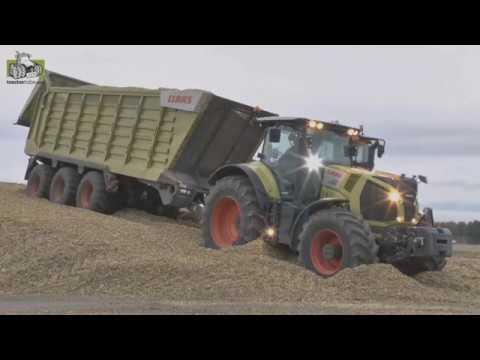 b1c77bd9432 Claas Axion 870 en Claas Cargos 760 in actie in de…