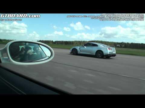 Novidem Nissan GTR R35 vs Hans Dahlbäck Porsche 911 Turbo (Mk I 997 6-speed)