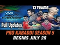 Vivo Pro Kabaddi 2017 Season 5 Auction Full Updates | Pro kabaddi Auction All players list
