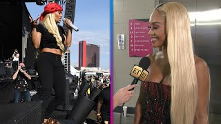 Saweetie Wore Her AIRPORT OUTFIT to Perform at iHeartRadio Music Festival (Exclusive)