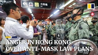 Anger in Hong Kong over anti-mask law