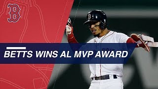 Mookie Betts is named the 2018 American League MVP