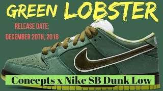 "Concepts Reveals The Nike SB Dunk ""Green Lobster"" Through SNKRS Cam ... 4a2c9282c"