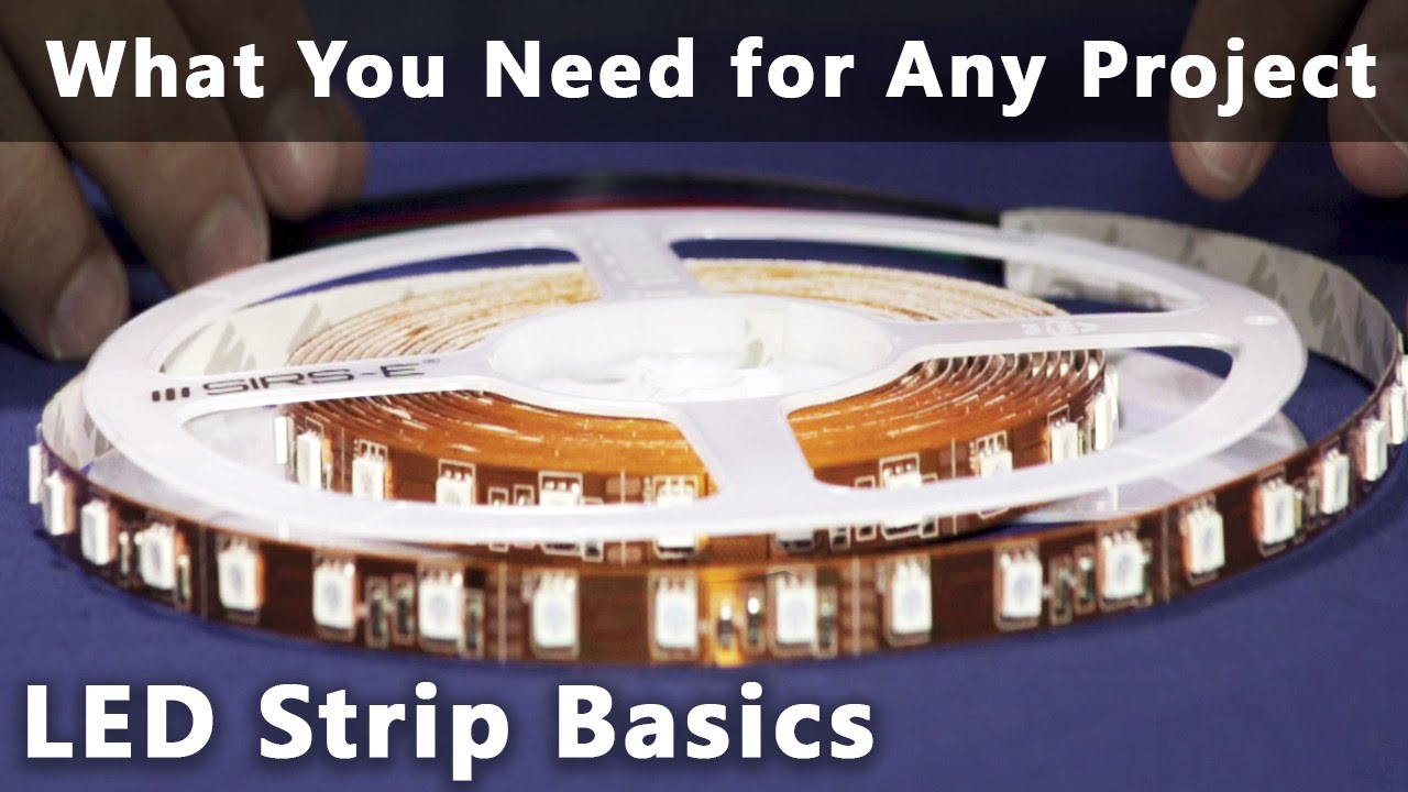 Led Strip Basics What You Need For Any Project Or Installation Youtube Wiring