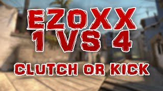 "[cs:go] ""clutch or kick"" 1 vs 4 by ezoxx | de_mirage"
