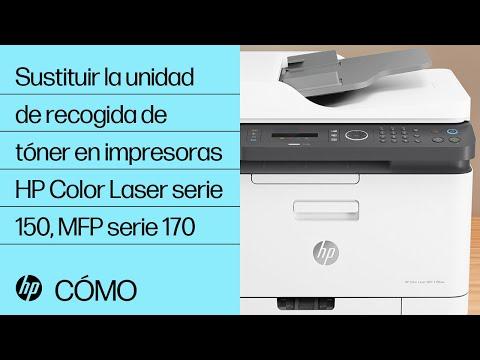 Sustituir la unidad de recogida de tóner en impresoras HP Color Laser serie 150, MFP serie 170 | HP