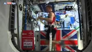 بالفيديو.. رائد فضاء بريطاني يشارك بماراثون لندن من العالم الخارجي
