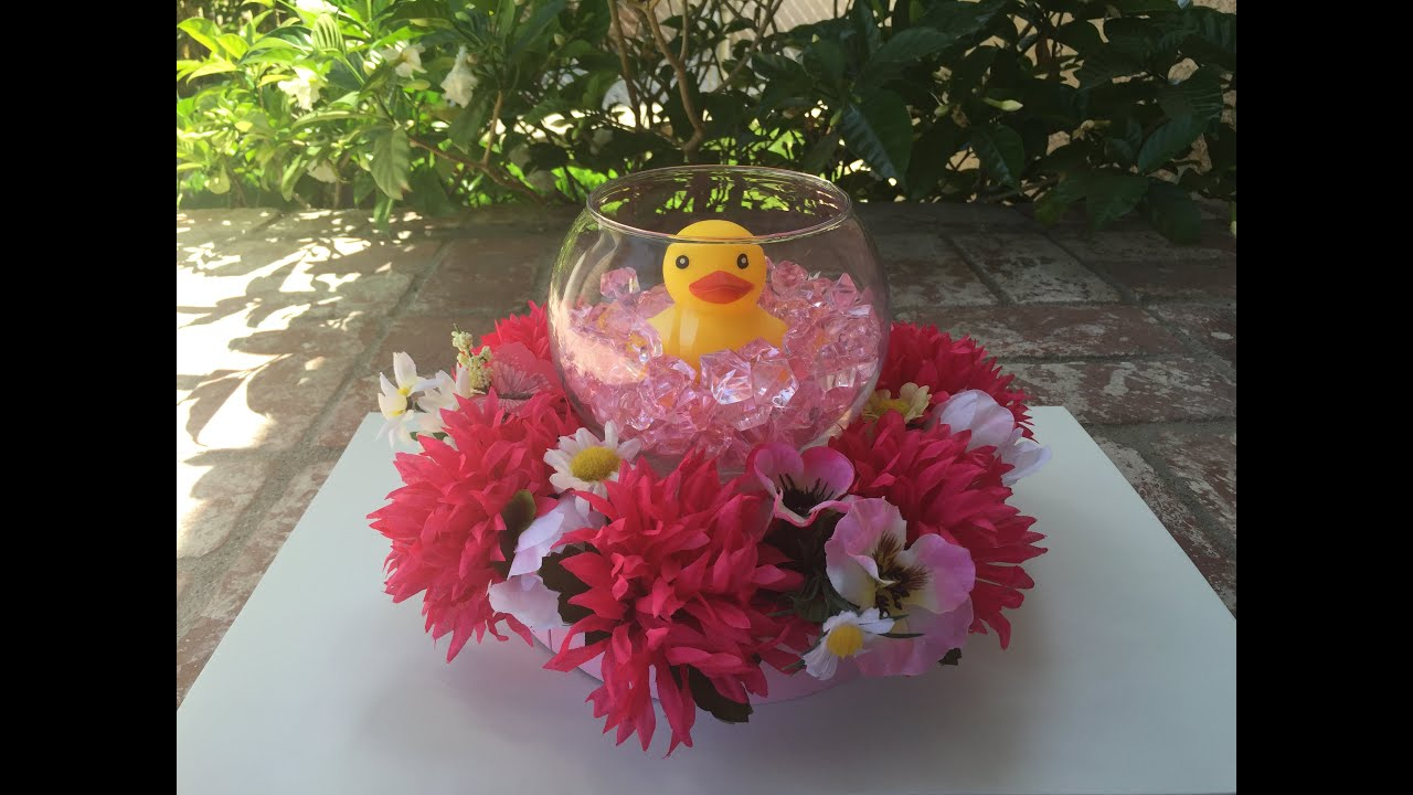 Duck Floral Centerpiece (Baby Shower)   YouTube