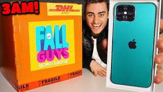 DO NOT OPEN FALL GUYS MYSTERY BOX AT 3AM!! (IPHONE 12 REVEAL!?)