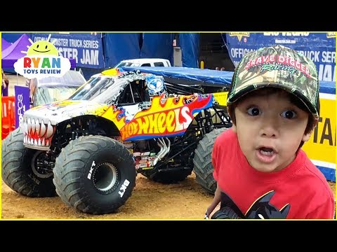 Ryan Plays At Giant Monster Truck Show For Kids Youtube