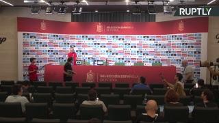 Пресс конференция сборной Испании по футболу LIVE