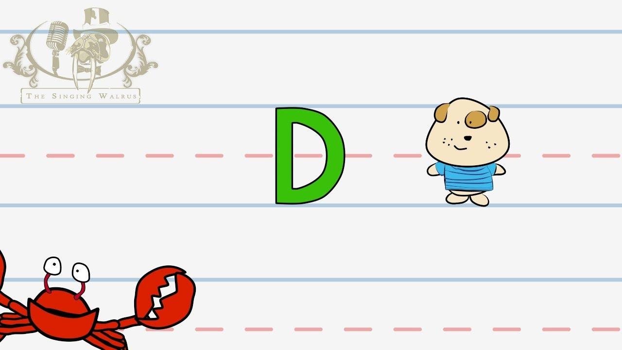 Write the letter D | Alphabet Writing lesson for children | The