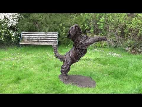 Bearded Collie Sculpture by Tanya Russell
